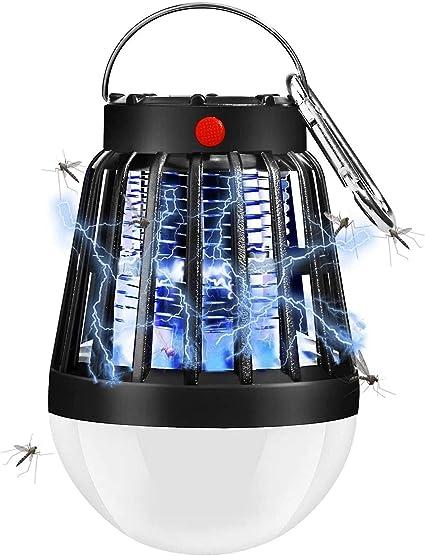 QAZW Lampara Antimosquitos, 2 en 1 Antimosquitos Electrico UV ...