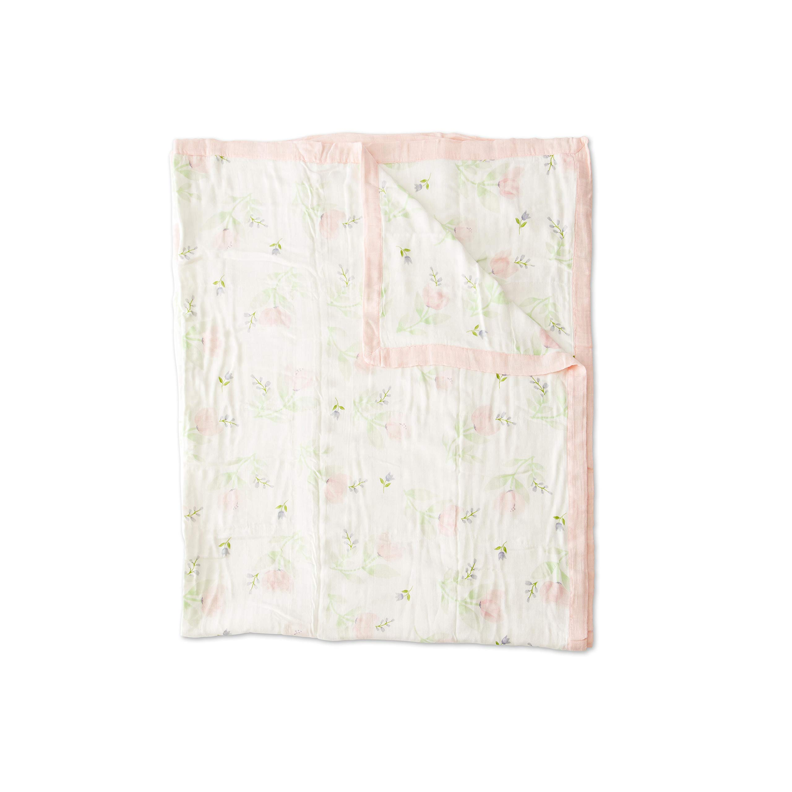 Little Unicorn Deluxe Muslin Large Quilt Blanket - Pink Peony