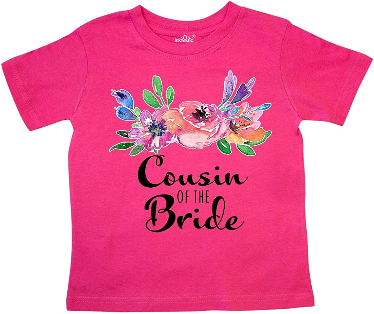 inktastic Cousin of The Bride with Bouquet Toddler T-Shirt