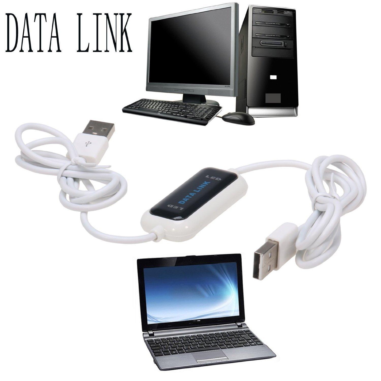 Salcar Cable USB para transferencia de datos de PC a PC/Data Link Cable/Conexión directa de alta velocidad para ordenadores y portátiles/Easy Copy Per ...