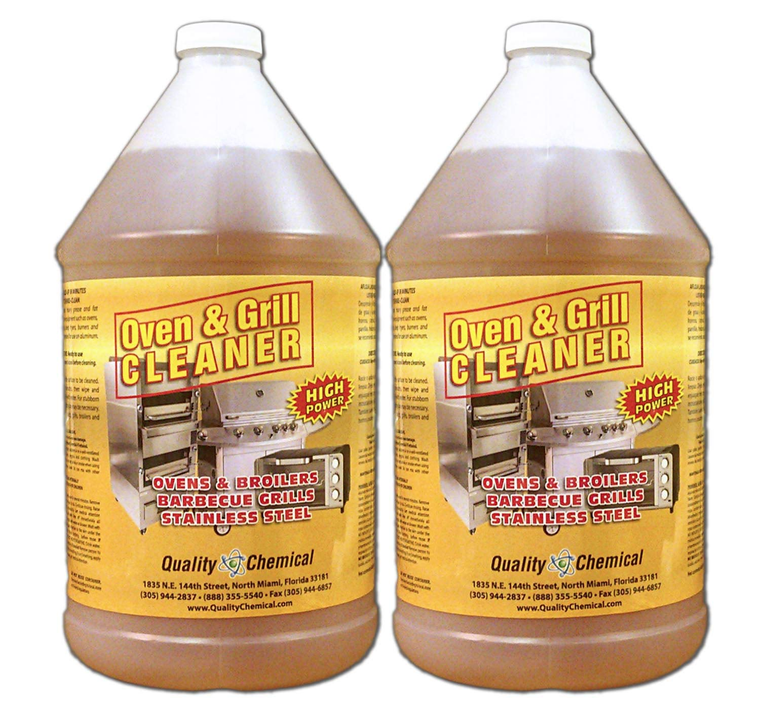 Oven & Grill Cleaner Heavy-Duty. High Power! Nothing Stronger.-2 gallon case by Quality Chemical
