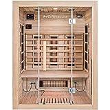 Home Deluxe – Infrarotkabine – Sahara L – Vollspektrumstrahler – Holz: Hemlocktanne - Maße: 190 x 150 x 120 cm – inkl. vielen Extras und komplettem Zubehör
