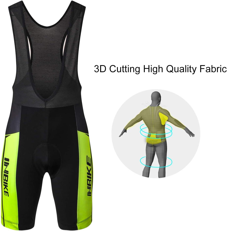 Cuissard 3D Gel Coussin Solide Tenue VTT Combinaison V/élo Jersey Respirant S/échage Rapide Cycliste Homme Printemps Ete INBIKE Maillot Cyslisme Manches Courtes