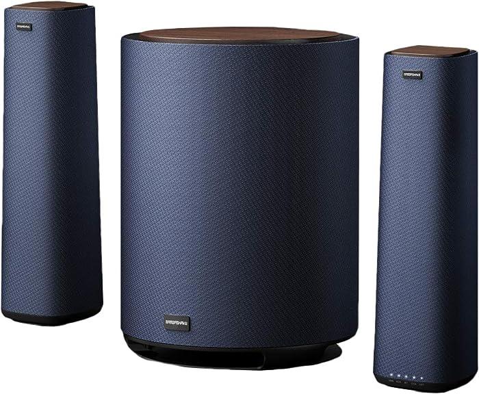 MAMBASANKE 5.1 Surround Sound System with Wired Split Speaker, Home Cinema Speaker, Deep Bass, Wireless Bluetooth, Multi Device for AUX/COX/Opt/USB/BT, UK Plug, PC/PS4/Xbox/DVD Player/TV/Smartphone