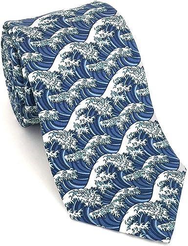 Josh Bach - Corbata de seda para hombre, diseño de ola japonesa ...
