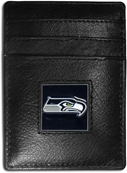 Siskiyou NHL Leather Money Clip//Cardholder Packaged in Gift Box