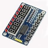 HiLetgo TM1638 8ビット LED デジタル チューブ 8キー ディスプレイ ボタン 電子モジュール for AVR Arduino ARM