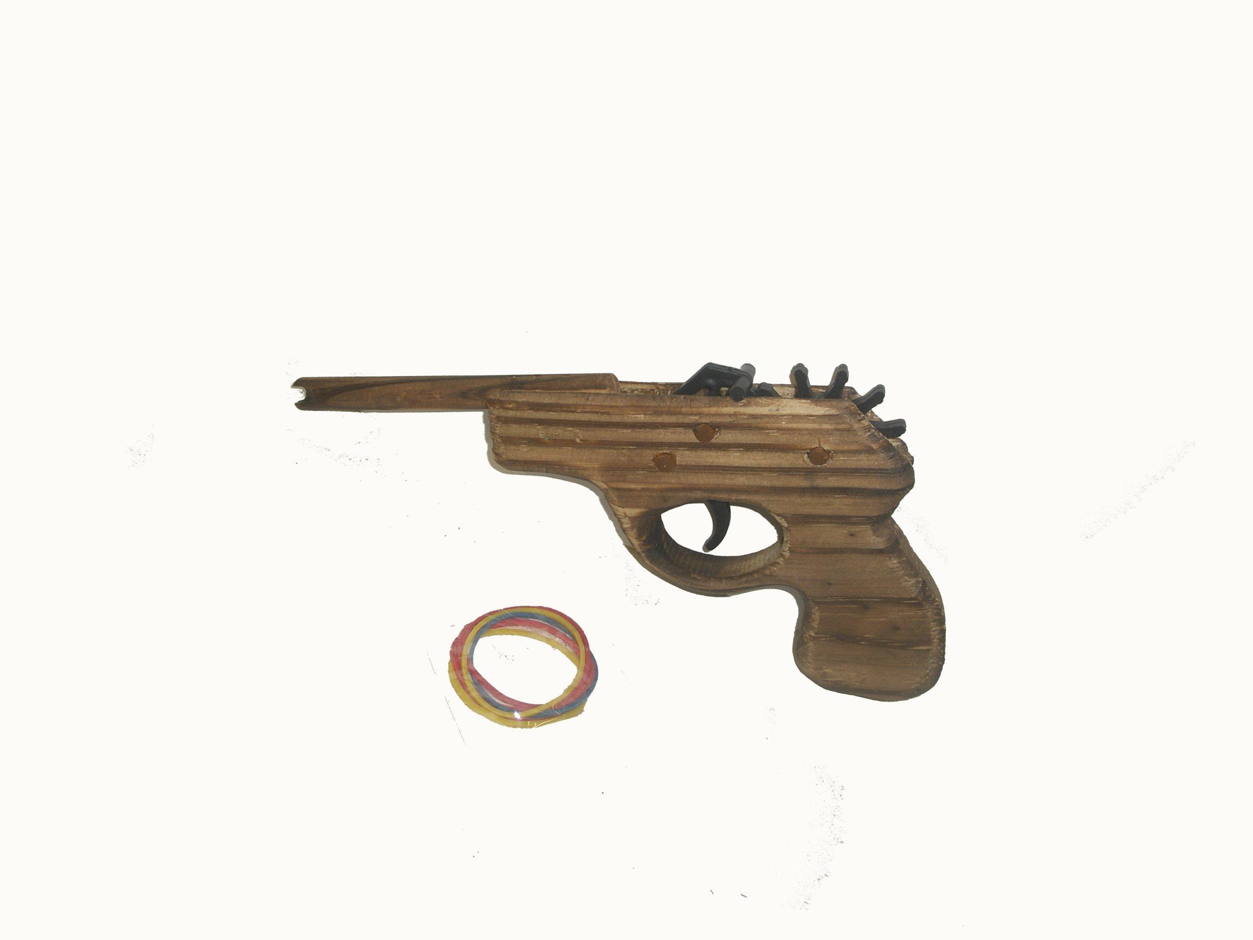Rubber Band Gun Target Set; Rubber Band Pistol Target Set; Wooden Toy, Wooden Rubber Band Gun; Classic Rubber Band Pistol; Archery Target Set; Children's Play set;