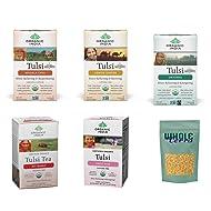Organic India Tulsi Tea Best Sellers 5 Flavor Variety Pack (Pack of 5)