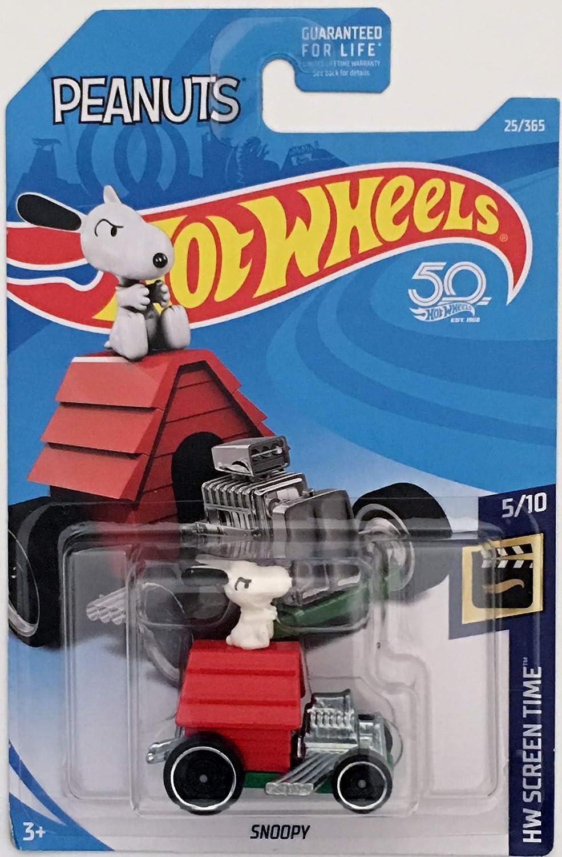 Amazon.com: Hot Wheels 2018 50th Anniversary HW Screen Time Peanuts Snoopy  Car 25/365: Toys & Games