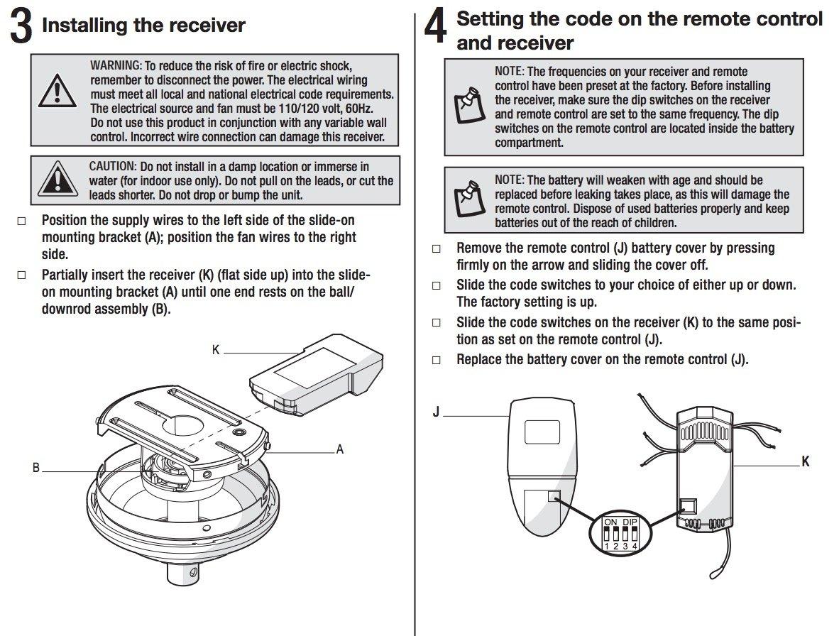 Anderic Replacement For Fan51t Remote With Wall Mount Hampton Bay Ceiling Fans Model Fan 51t Fcc Id L3hfan51t Fan51tw Com