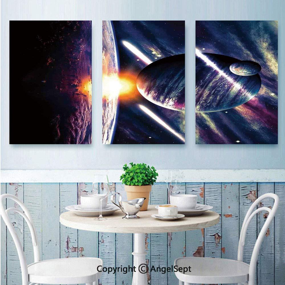 Interstellar Stretched Canvas Wall Art ~ 4 Panels