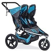 BOB Revolution Flex Duallie 2.0 Jogging Stroller - Up to 100 pounds - UPF 50+ Canopy - Adjustable Hadlebar, Lagoon