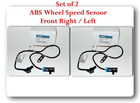 (set of 2) 15997037 / als480 abs wheel speed sensor fits: chevrolet blazer