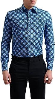 Prada Men's Multi-Color Button Down Pocket Dress Shirt