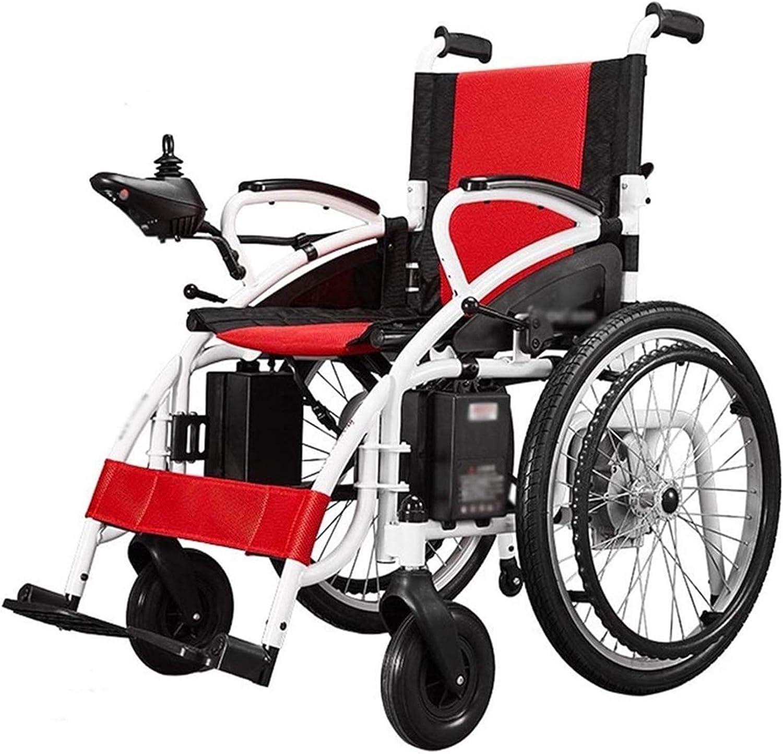 Silla de Ruedas eléctrica, Portátil de silla de ruedas eléctrica plegable ligero inteligente completamente automático 4 Rondas silla de ruedas eléctrica for ancianos discapacitados de ion de litio Res