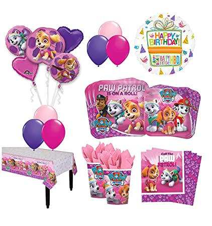 Amazon The Ultimate 16 Guest 94pc Paw Patrol Girls Skye And