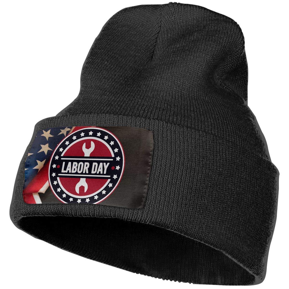 Labor Day American Flag Ski Cap Men Women Knit Hats Stretchy /& Soft Beanie