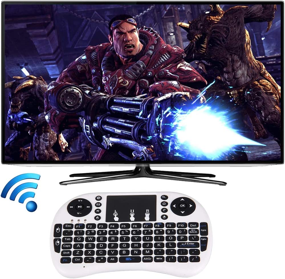 Happyshopping Russian i8 air Mouse Wireless Keyboard with touchp I8 2.4GHz Fly Air Mouse Wireless Mini Keyboard with Embedded USB Receiver for Android TV Box//PC
