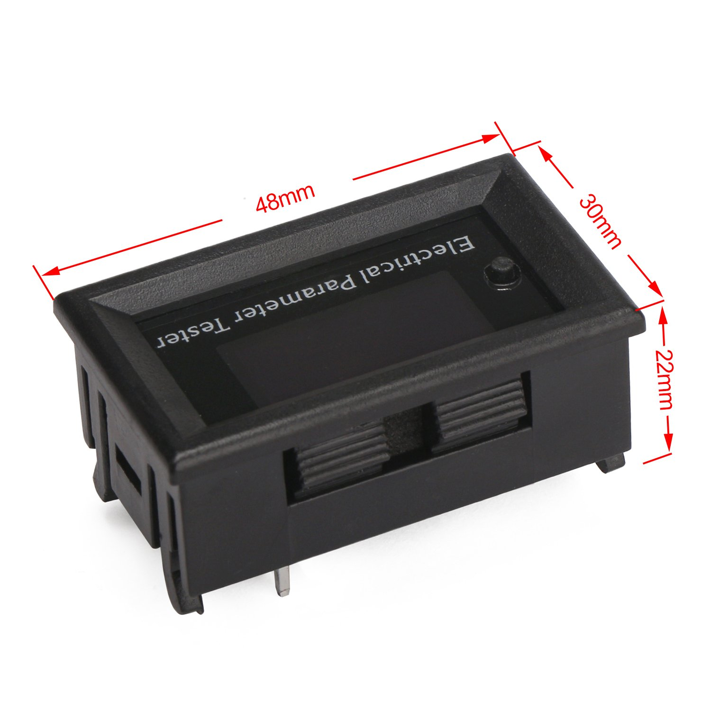 DC Voltmeter Ammeter Panel DROK 0.96 OLED Display Digital Multimeter DC 0-33V 3A 0-99h59min 99W 15℃~~60℃ Run Time Temperature Power Capacity Energy Monitor Meter Gauge 12v 24v Battery Tester 200078