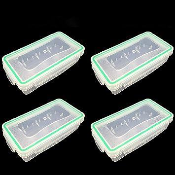 10pcs plastique porte-batterie Boîte de rangement Case Pour 1x 18650 Batterie Rechargeable