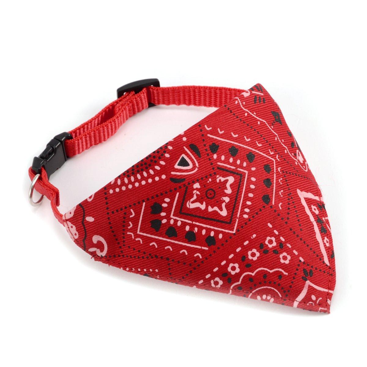Echarpe Foulard Col Bandana Triangle pour Chien Chat animaux Collier reglable 27cm rouge Surepromise
