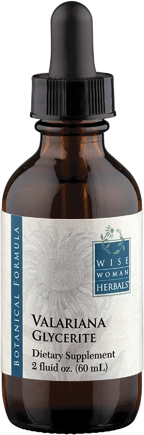 Wise Woman Herbals – Valeriana Glycerite – 2 fl oz- Valerian Root Herb, All-Natural Sleep Aid Supports a Healthy Restful Sleep, Calm and Relaxation, Natural Relaxant Ease Mild Muscle Tension