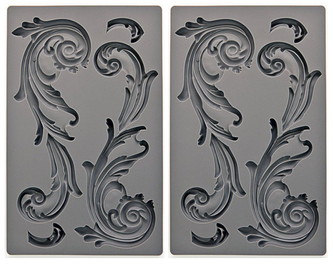 Prima Marketing 655350815318Large Fleurish IOD Vintage Art Decor Molds Prima Marketing Inc ca home PS3ZQ