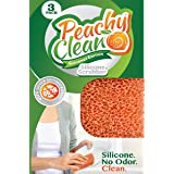 Peachy Clean Silver Infused Gourmet Silicone Dish Scrubber Sponge