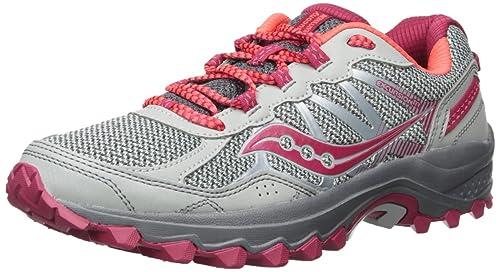 Saucony Women s Excursion TR11 Running Shoe Grey Pink 5 Medium US 4c8f44c8f02