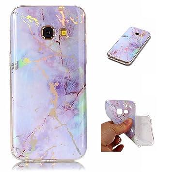 WindTeco Funda Galaxy A3 2017 Mármol, Ultra Fina Funda de Silicona Suave Case Cover Protección Cáscara Soft Gel TPU Carcasa Funda para Samsung Galaxy ...