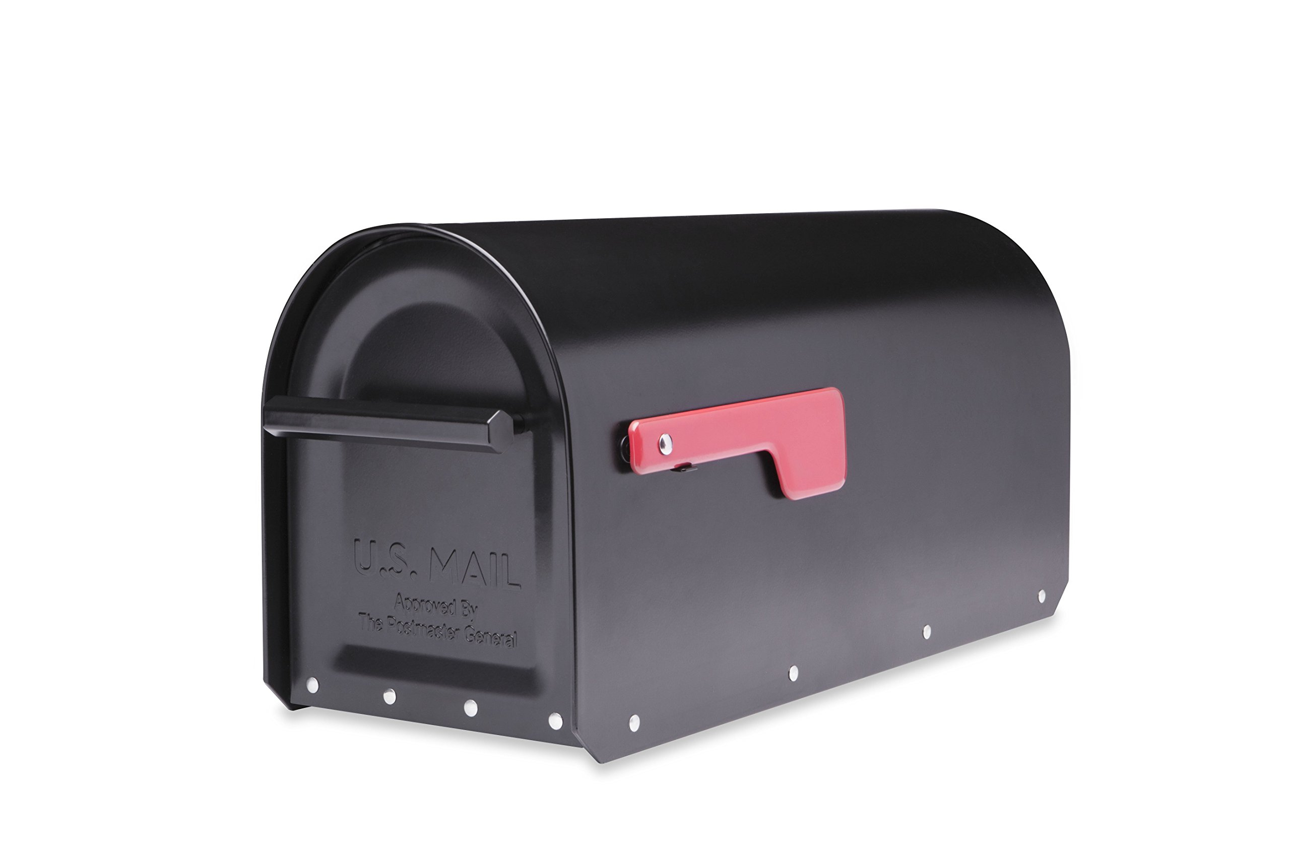 Architectural Mailboxes 5560B-R-10 Sequoia Wall Mount Mailbox, Medium, Black by ARCHITECTURAL MAILBOXES