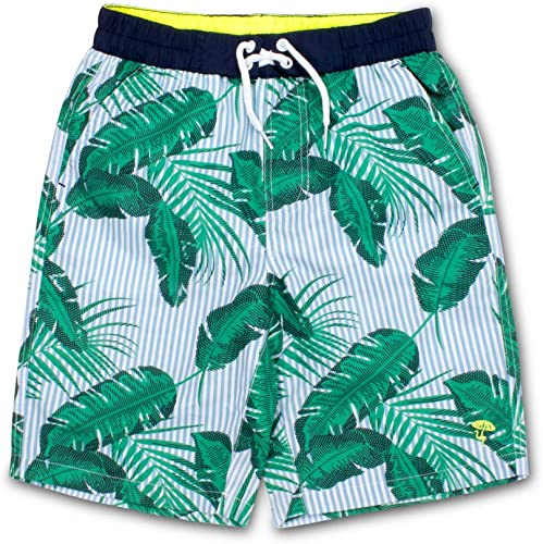 Shade Critters Baby Boys Embroidered Palms Swim Trunks Infant//Toddler