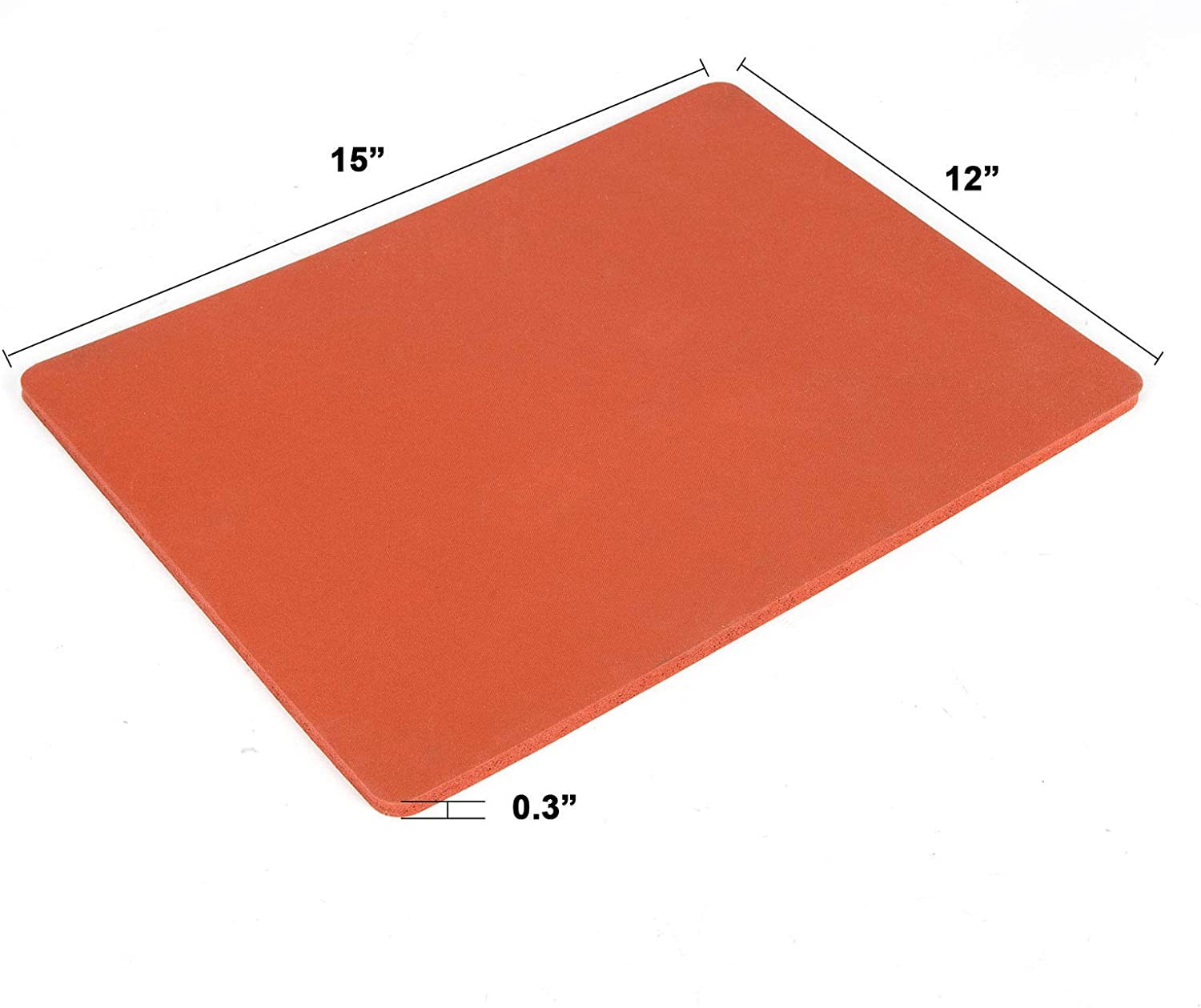"""Tech-L 15/"""" /×15/"""" Silicone Pad Compatible with Cricut Easy Press Heat Press Mat Compatible with Cricut Easy Press Flat Heat Press Replacement Red"""