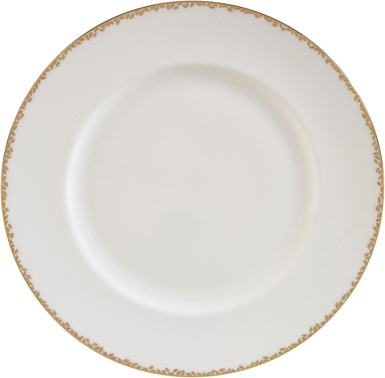 8 Wedgwood Gilded Leaf Salad Plate