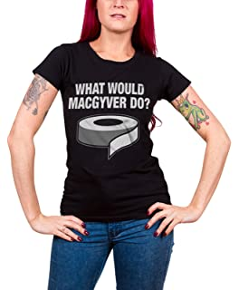 Women T-Shirt S-XXL Sizes What Would MacGyver Do Officially Licensed MacGyver