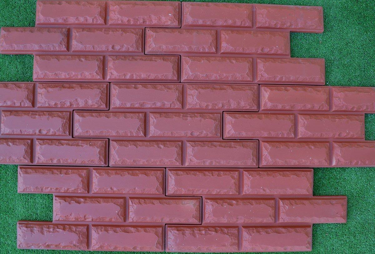 6 chapa de ladrillos de moldes para paredes de hormigón molde de yeso cemento # W07: Amazon.es: Jardín