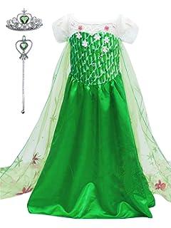 ce79c1738bc24 YONIER Regina Elsa Principessa Costume Halloween Abiti Carnevale Bambini  Accessori Ragazze Principessa Abiti Partito Vestito Costume