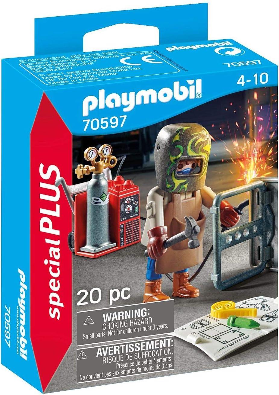 PLAYMOBIL Special Plus 70597 - Soldador con Equipo, a Partir de 4 años
