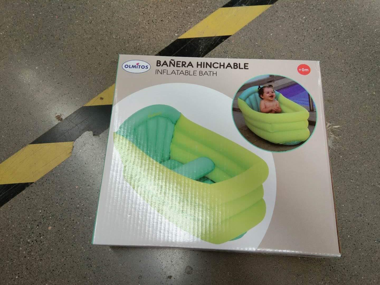 Yanshan Bañera de bebé con Cesta, artículos de baño, baño portátil ...