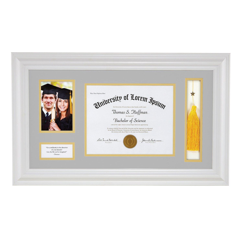 CB Gift Graduation Framed Art, White