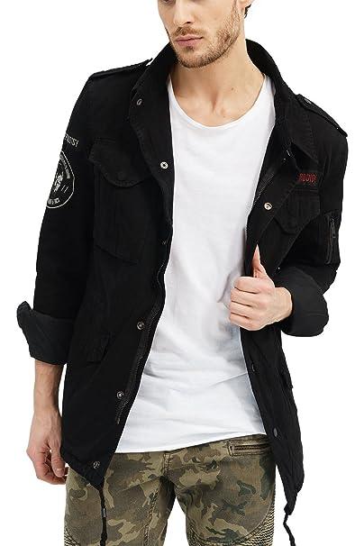 trueprodigy Casual Hombre marca Chaqueta militar ropa retro vintage rock vestir moda deportivo deportivo slim fit