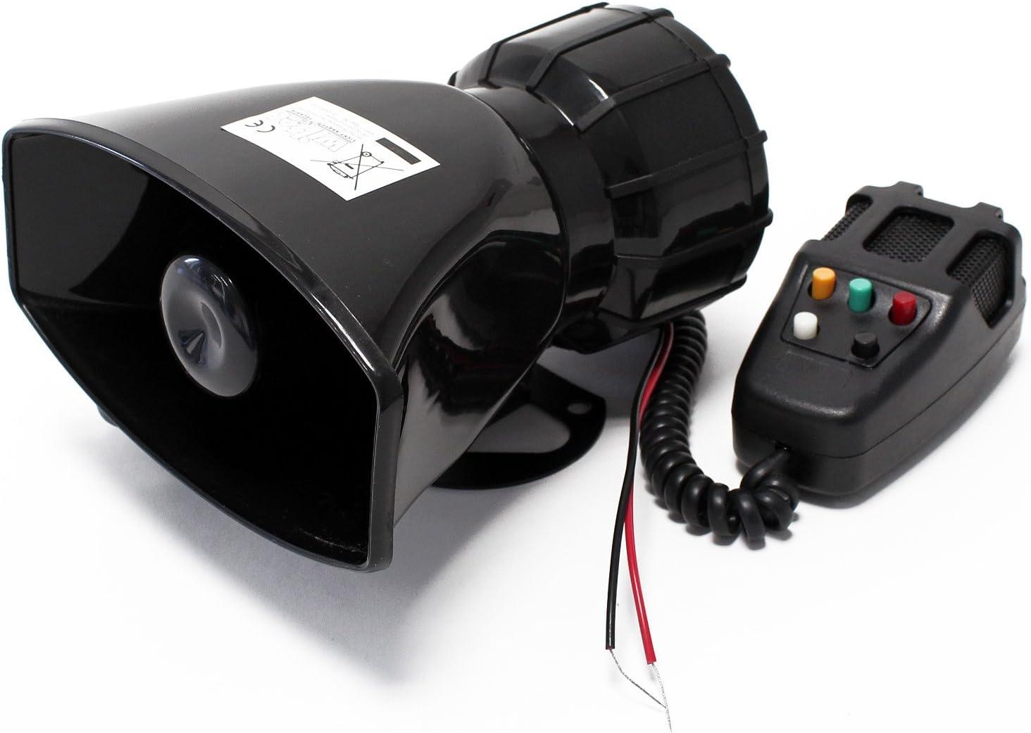 Sirena acústica de 5 tonos 60W 130dB - Señal de emergencia de ambulancia de la policía de los EE.UU.: Amazon.es: Coche y moto