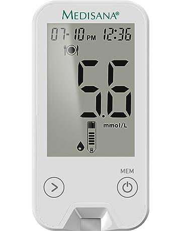 Medisana 79034 - Monitor para medir la glucosa en la sangre, color blanco