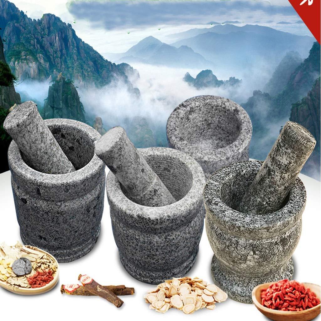 Mortar Rugged Natural Granite Crucible and Mortar Spice Herbal Crusher Grinder Paste Mortar and Pestle Set