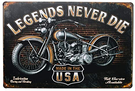 Amazon.com: Legends Never Die, Harley Davidson, pared de ...