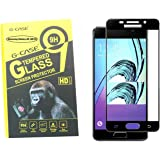 Full Body Tempered For Samsung Galaxy A5 (2016), G-Case 3D Arc Edge Full Body Front Edge to Edge Tempered Glass Screen Scratch Guard Protector for Samsung Galaxy A5 (2016)/Samsung Galaxy A5 (2016)- Royal Black