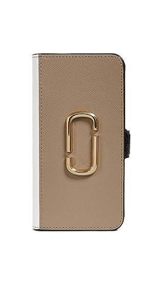 the latest 08c0c b5281 Amazon.com: Marc Jacobs Double J Folio iPhone XR Case, French Grey ...