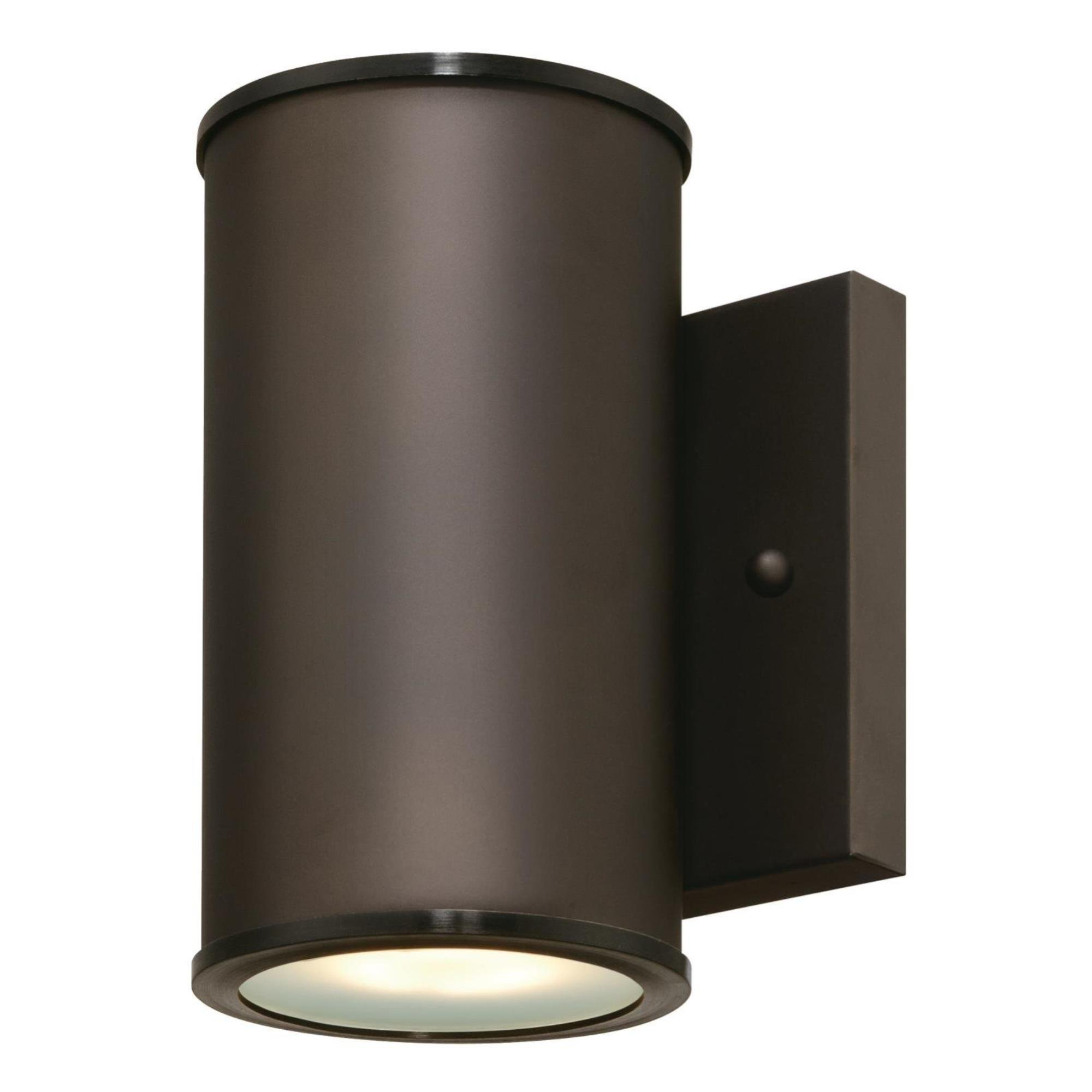 Westinghouse 6315600 Mayslick One-Light LED Outdoor Wall Fixture with Frosted Glass Lens, Oil Rubbed Bronze