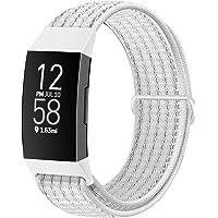 Runostrich Nylonowe paski do zegarków, kompatybilne z Fitbit Charge 4 / Charge 3 / SE, miękkie, zastępcze paski…